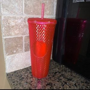 Hot Pink Studded Starbucks Cup